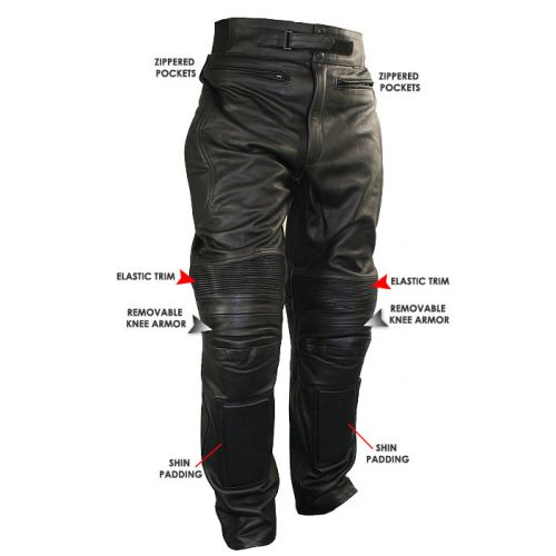 Мотоштаны кожаные Xelement Mens Armored Cowhide Leather Racing Pants